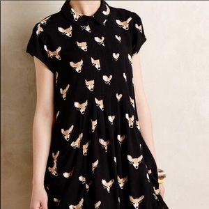 Anthropologie Leonard St. Skyway Deer Dress